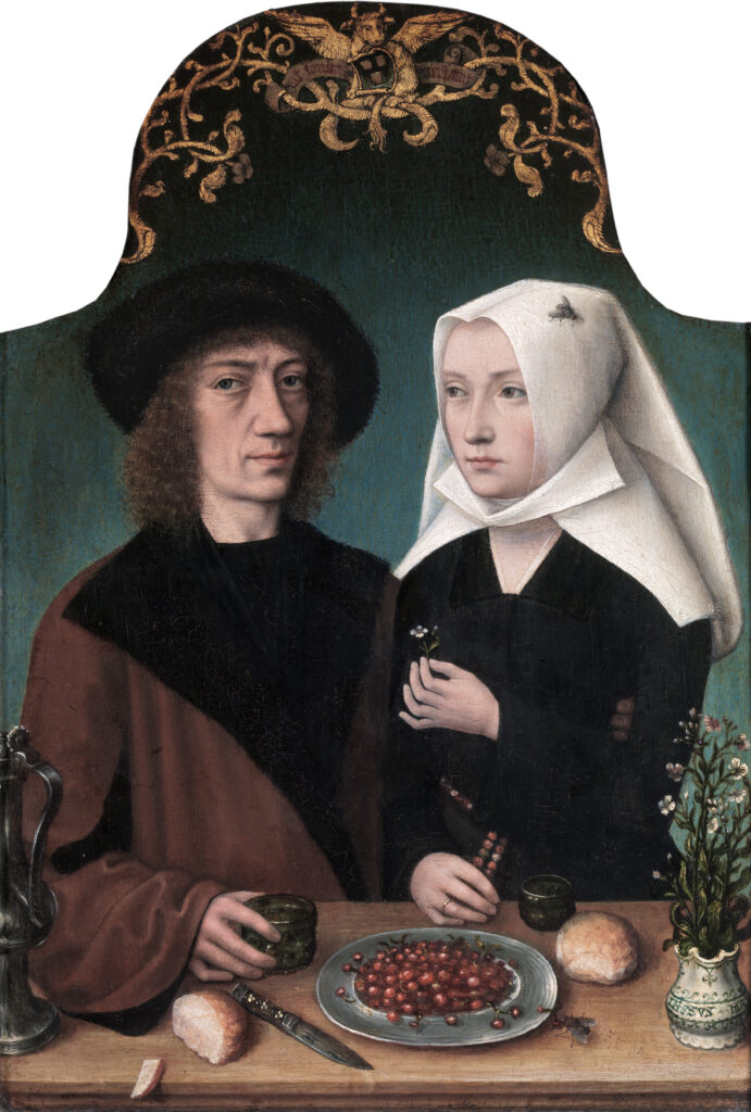 Bugs and Critters Hiding in Paintings: Master of Frankfurt, Self-portrait of the Artist with his Wife
