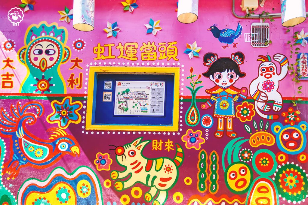Most Colorful Cities in the World: Rainbow Village, Taichung, Taiwan