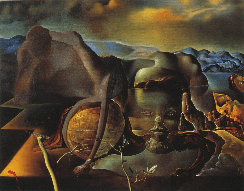Salvador Dalí, The Endless Enigma, 1938, oil on canvas, © Salvador Dalí, Fundació Gala-Salvador Dalí / 2013, ProLitteris, Zurich.