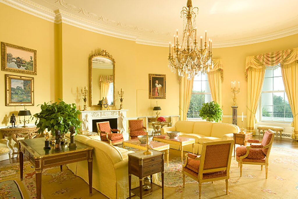 Five Key Women in Contemporary Interior Design: Sister Parish, Yellow Oval Room at the White House, Washington