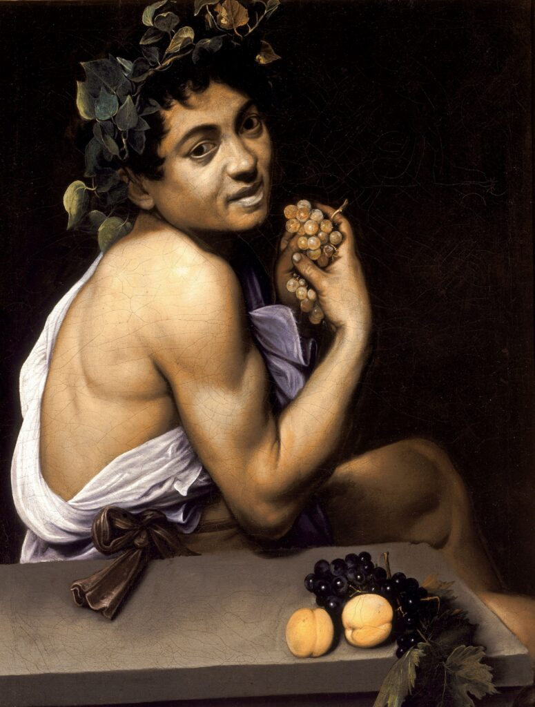 Self-portraits to know: Caravaggio, Young Sick Bacchus, 1593-4, Borghese Gallery, Rome, Italy