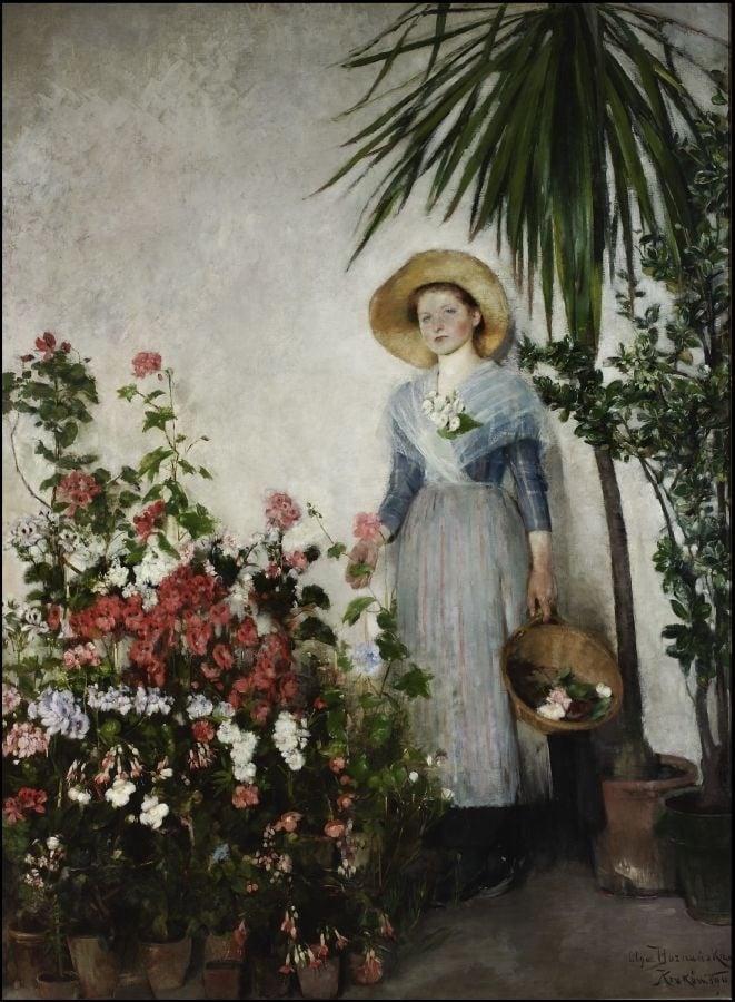 Olga Boznanska, In Orangerie,
