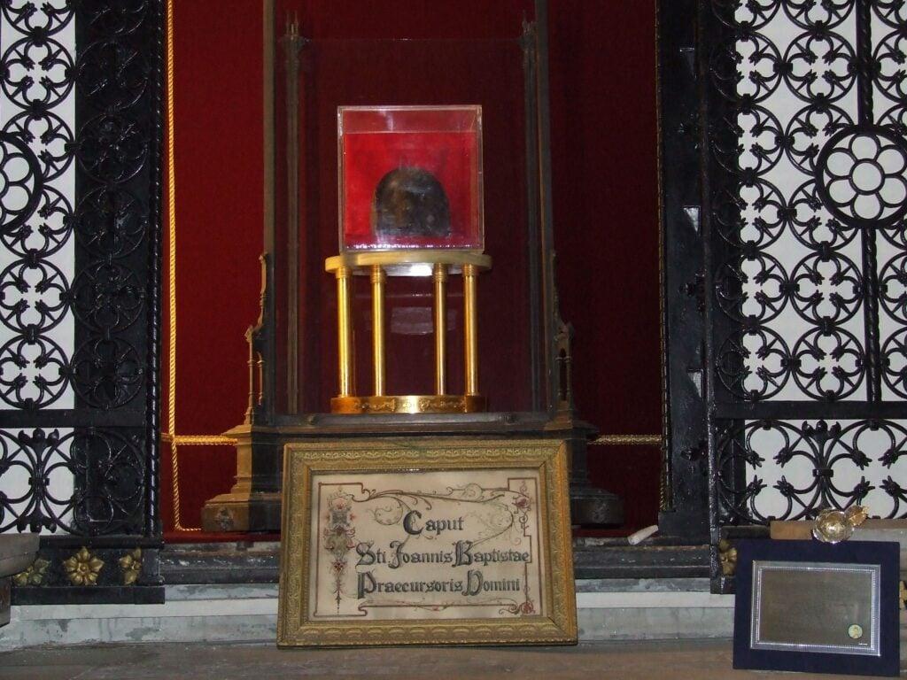 The Head of St.John the Baptist, Church of Saint Sylvester the First, Rome, Italy.