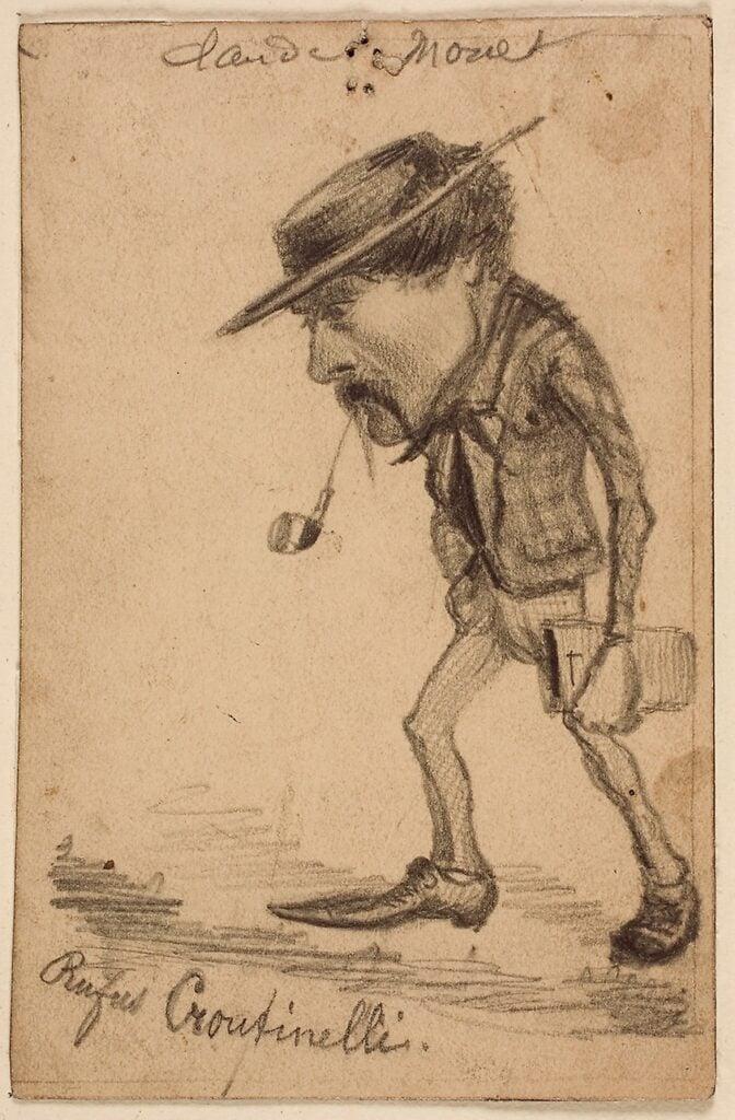 Claude Monet, Caricature of Henri Cassinelli, 1858, graphite on paper, Art Institute Chicago.