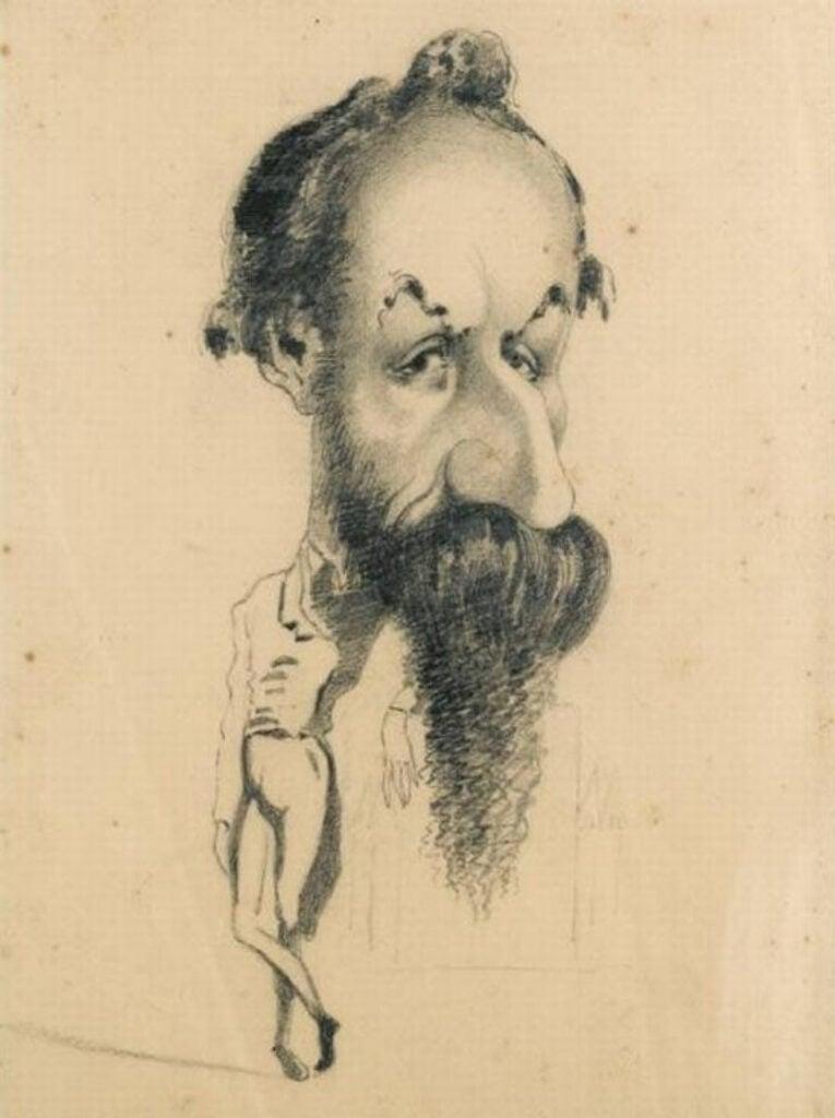 Claude Monet, Caricature of Philiberte Audebrand, c. 1858,