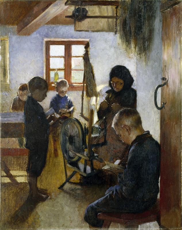 Back to School in Art: Oscar Björck, In the Village School,