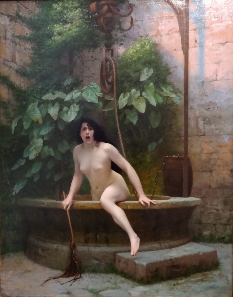 Jean-Léon Gérôme, Truth Coming Out of Her Well,