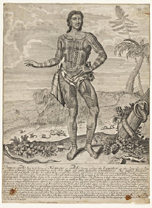 Tattoos history, art & culture: John Savage, etching of Jeoly,