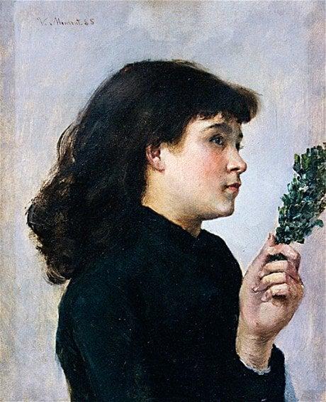 muse in art: Victorine Meurent, Le Jour des Rameaux,