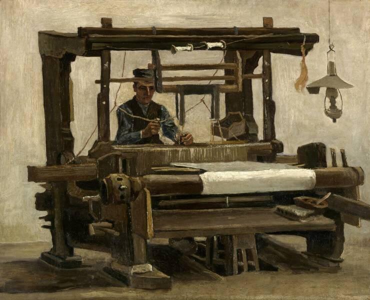Loom with Weaver, Van Gogh,