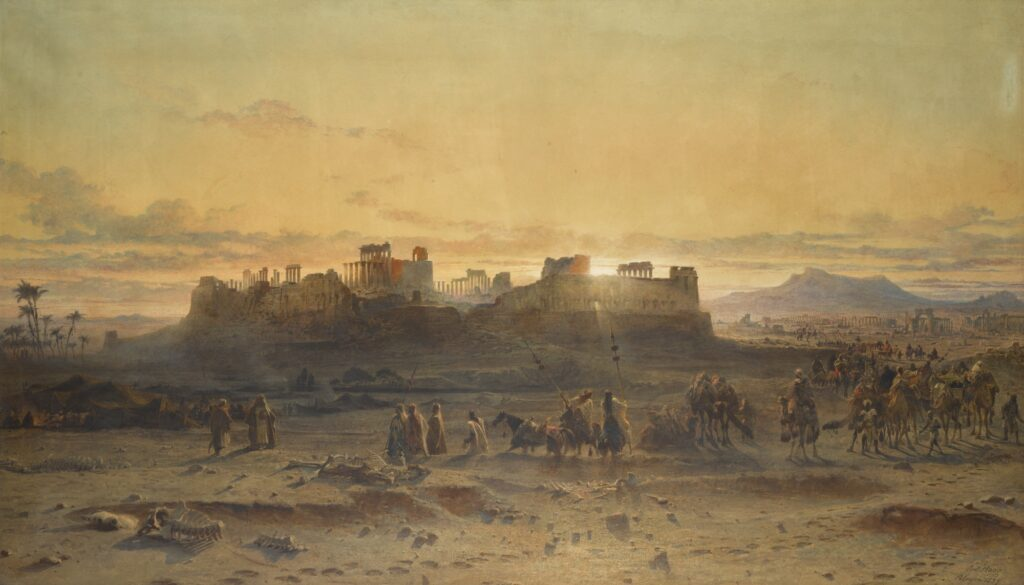 Ruins in art: Carl Haag, The Ruins of the Temple of the Sun, Palmyra.