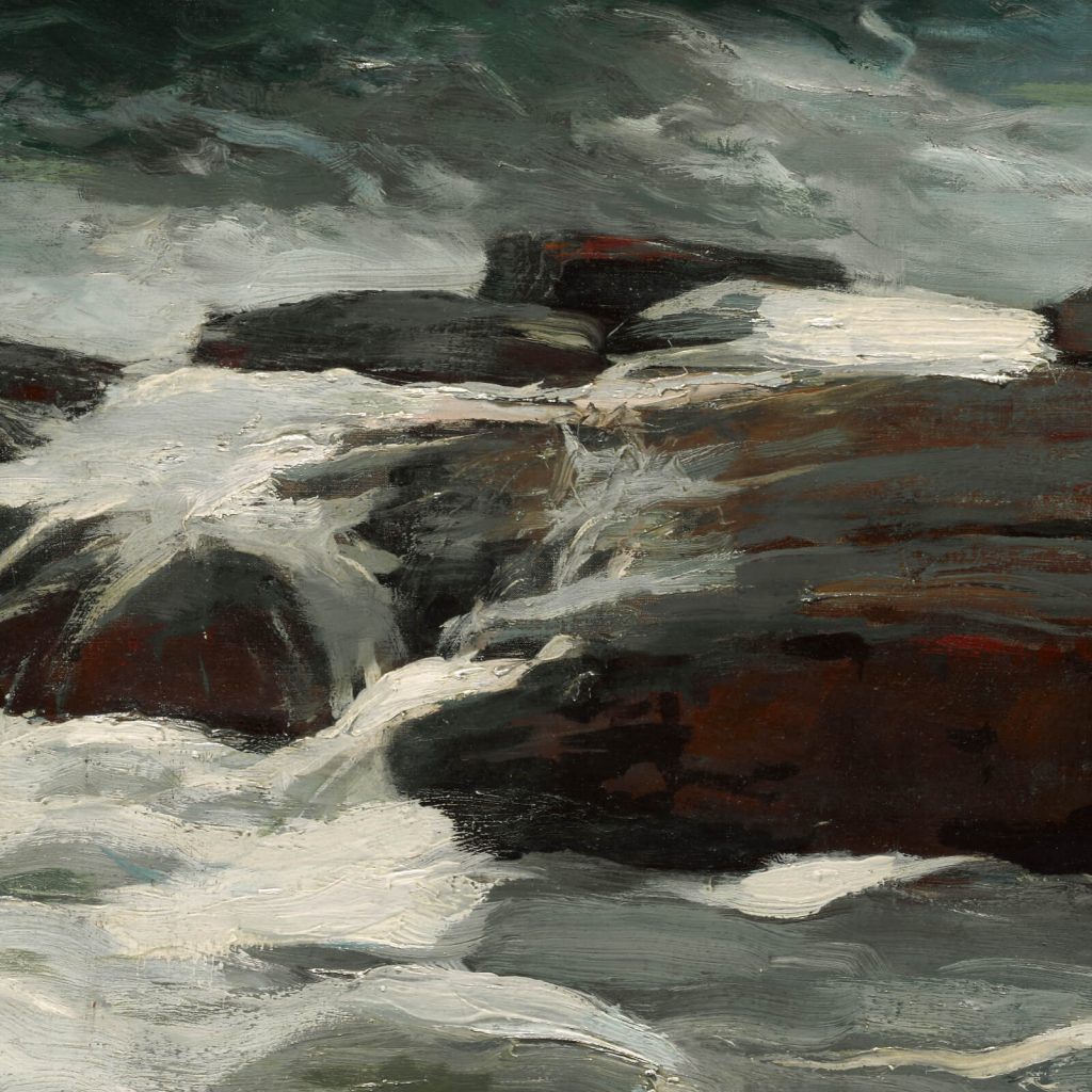 Winslow Homer, Summer Squall, 1904, Clark Art Institute, Williamstown, USA. Enlarged Detail of Rocks.