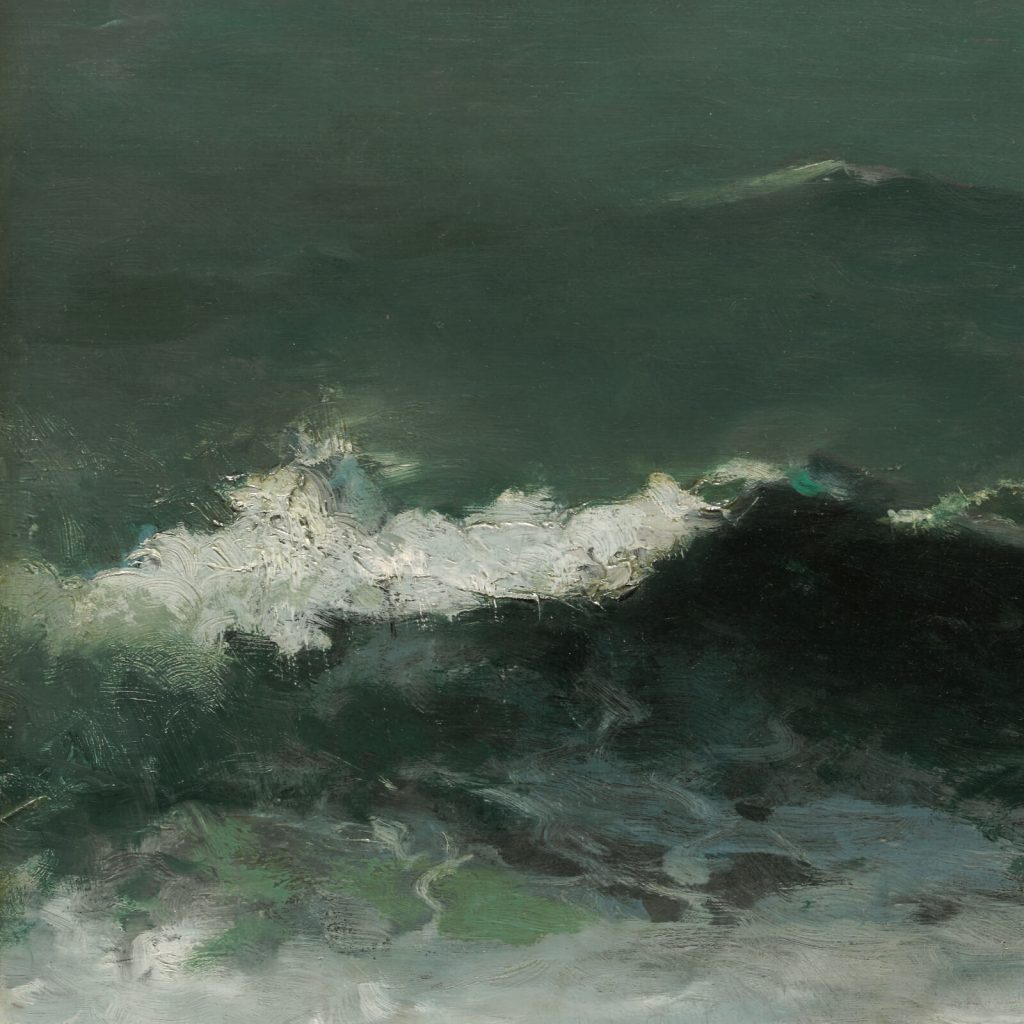 Winslow Homer, Summer Squall, 1904, Clark Art Institute, Williamstown, USA. Enlarged Detail of Wave.
