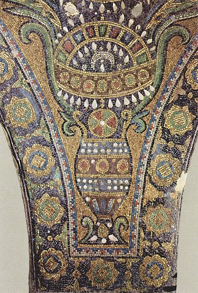 islamic mosaics panorama Glass mosaic from the interior of Dome of the Rock