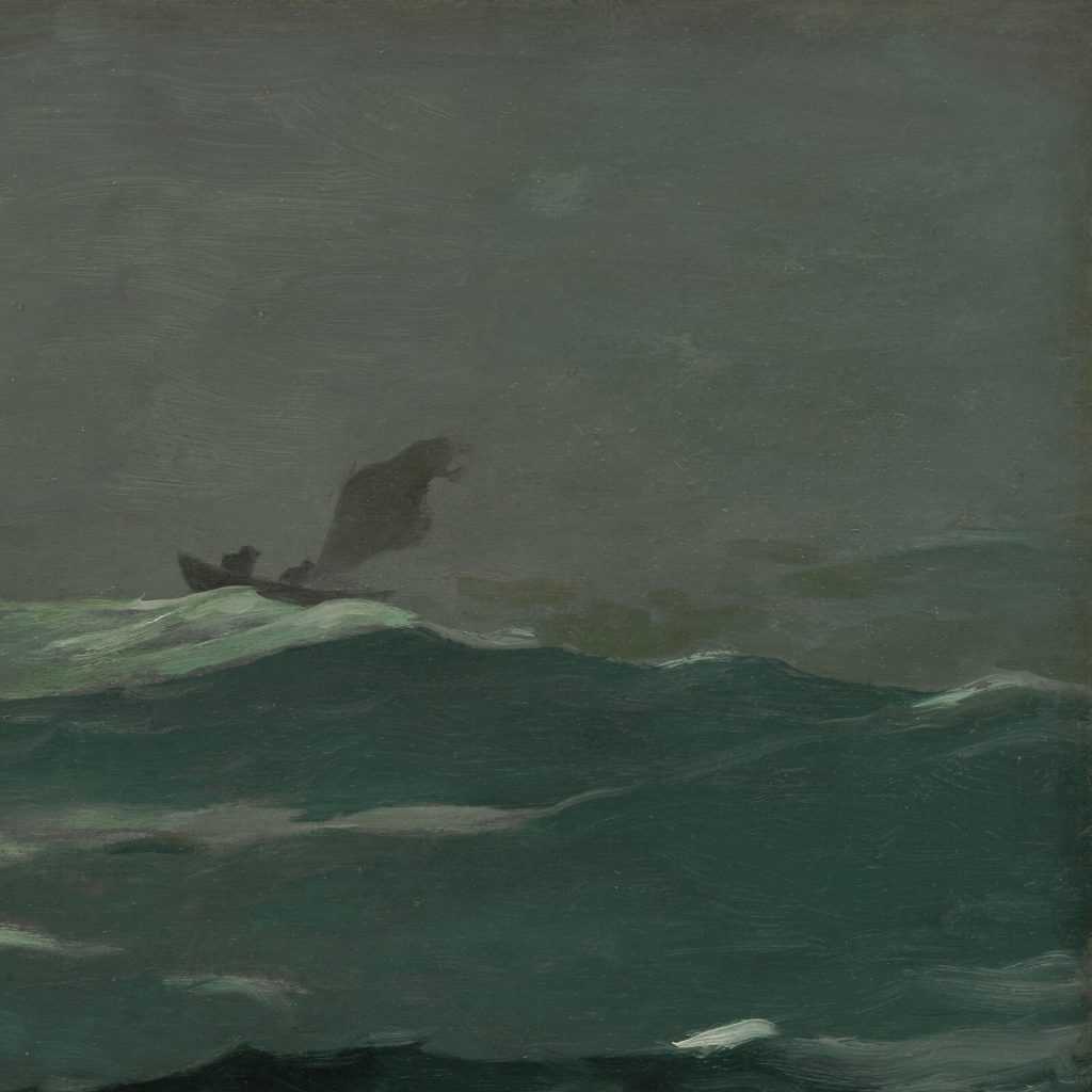 Winslow Homer, Summer Squall, 1904, Clark Art Institute, Williamstown, USA. Enlarged Detail of Boat.