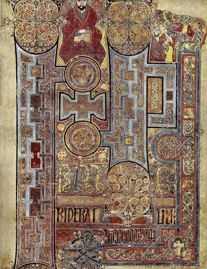 Art History 101: The Title Page of St. John's Gospel, The Book of Kells