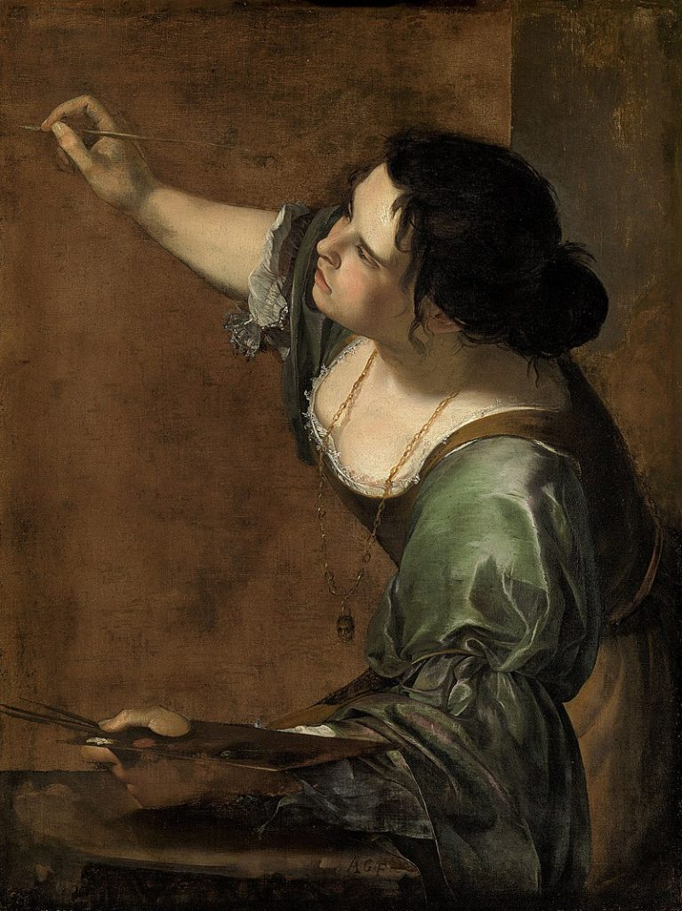 Female artist self-portraits: Artemisia Gentileschi painted this self-portrait while in London visiting Charles I in 1638.