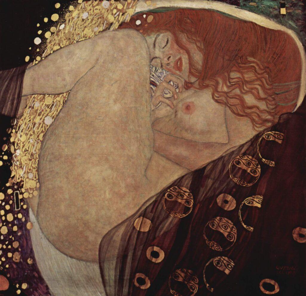 mythological Symbolism; Gustave Klimt, Danae, 1907, Galerie Würthle, Vienna, Austria