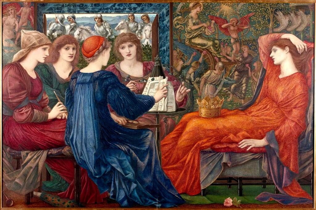 mythological Symbolism: Edward Burne-Jones, Laus Veneris, 1873-75, Laing Art Gallery, Newcastle upon Tyne, UK