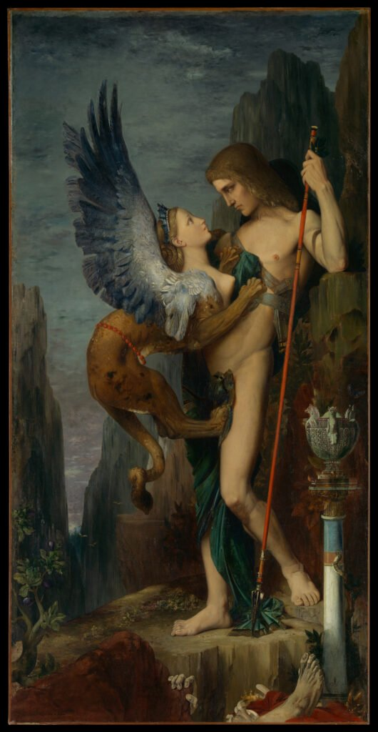 Gustave Moreau, Oedipus and the Sphinx, 1864, The Metropolitan Museum of Art, USA