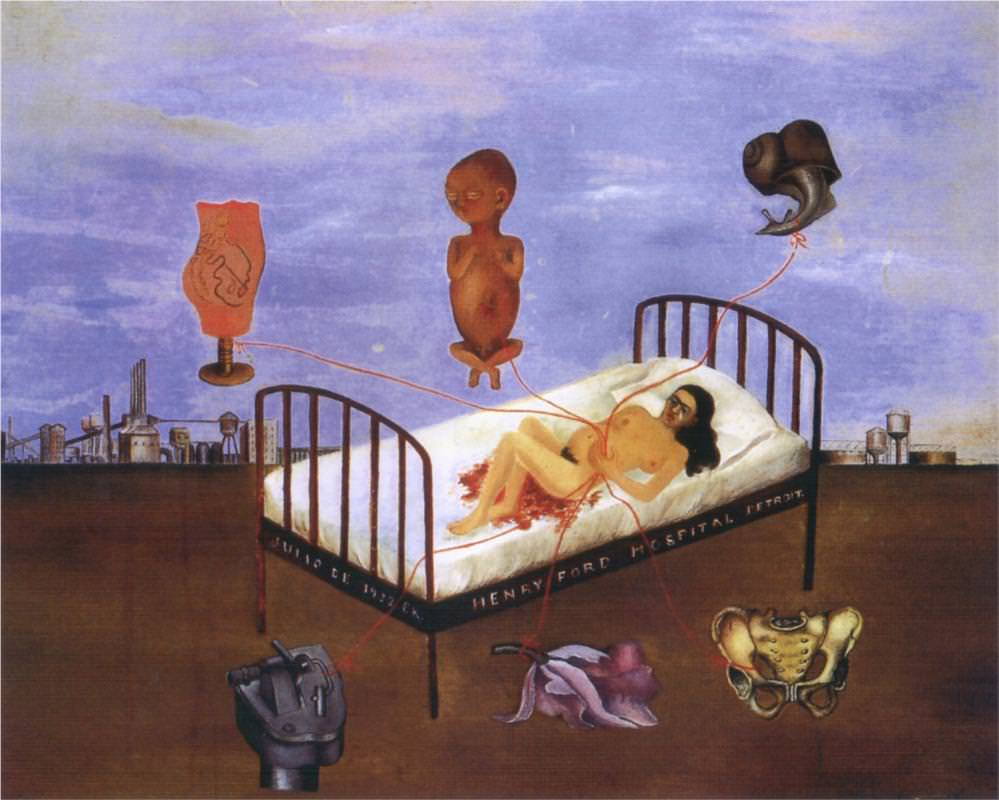 Frida Kahlo: the suffering behind her paintings; Frida Kahlo, Henry Ford Hospital,