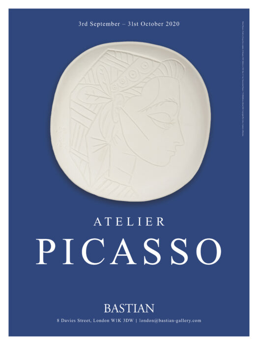 Exhibition poster for Atelier Picasso, BASTIAN gallery,