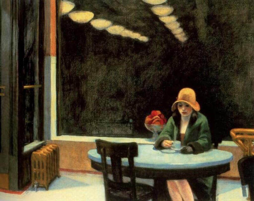 Effects of Art on Mental Health: Edward Hopper, Automat, 1927, Des Moines Art Centre, Des Moines, IA , USA.
