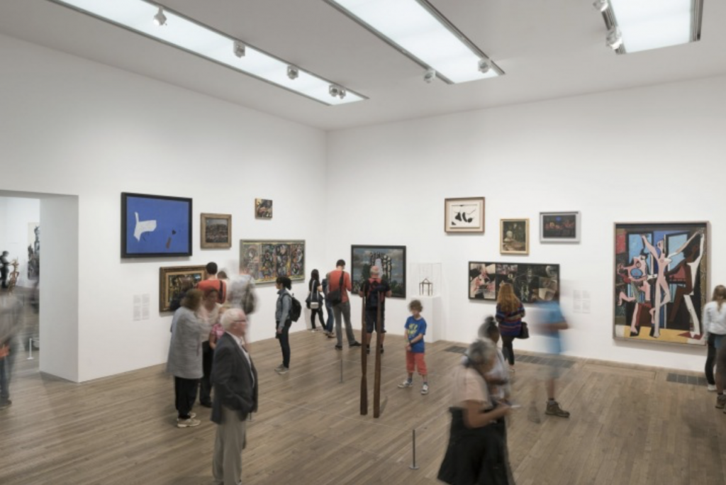 mental health - gallery visits Mental health and the positive effects of art: Tate Modern Gallery, London, UK.