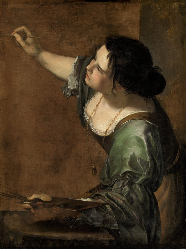 Self-portraits to know: Artemisia Gentileschi, Self portrait as the Allegory of Painting, 1638-9, Royal Collections, UK.