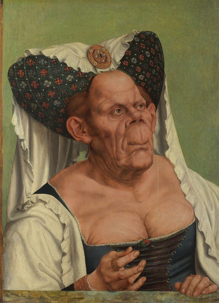 The Top 10 Strange and Bizarre Paintings: Quentin Matsys's portrait depicting a very masculine woman in fine clothes.