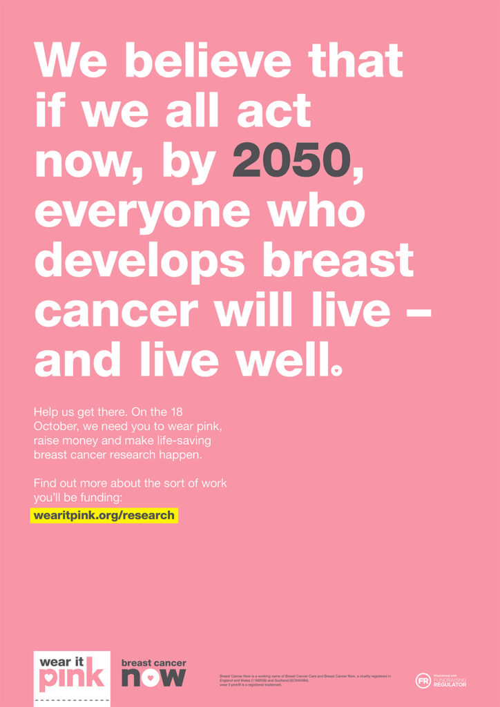 The Best Boobs are Healthy Boobs: Breast Cancer Now Campaign Poster