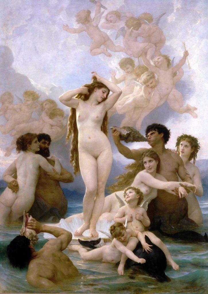 William-Adolphe Bouguereau, Birth of Venus, ca. 1879, Musée d'Orsay, Paris, France.