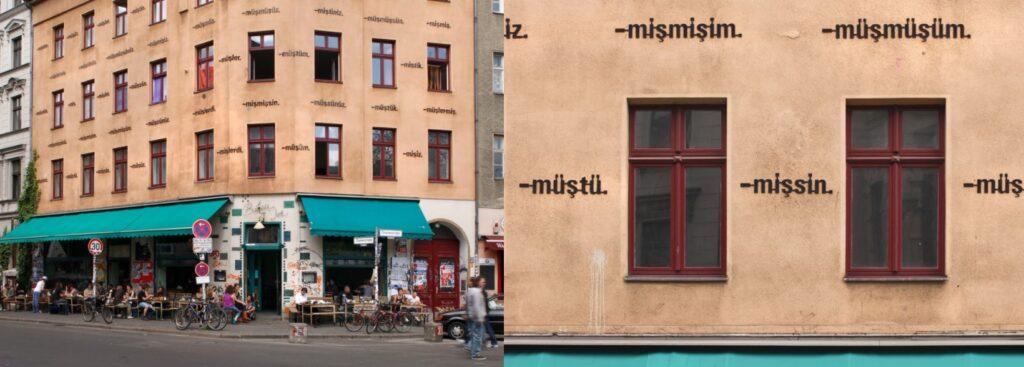 Ayşe Erkmen, Am Haus, 1994, Berlin, Germany. ayseerkmen.com