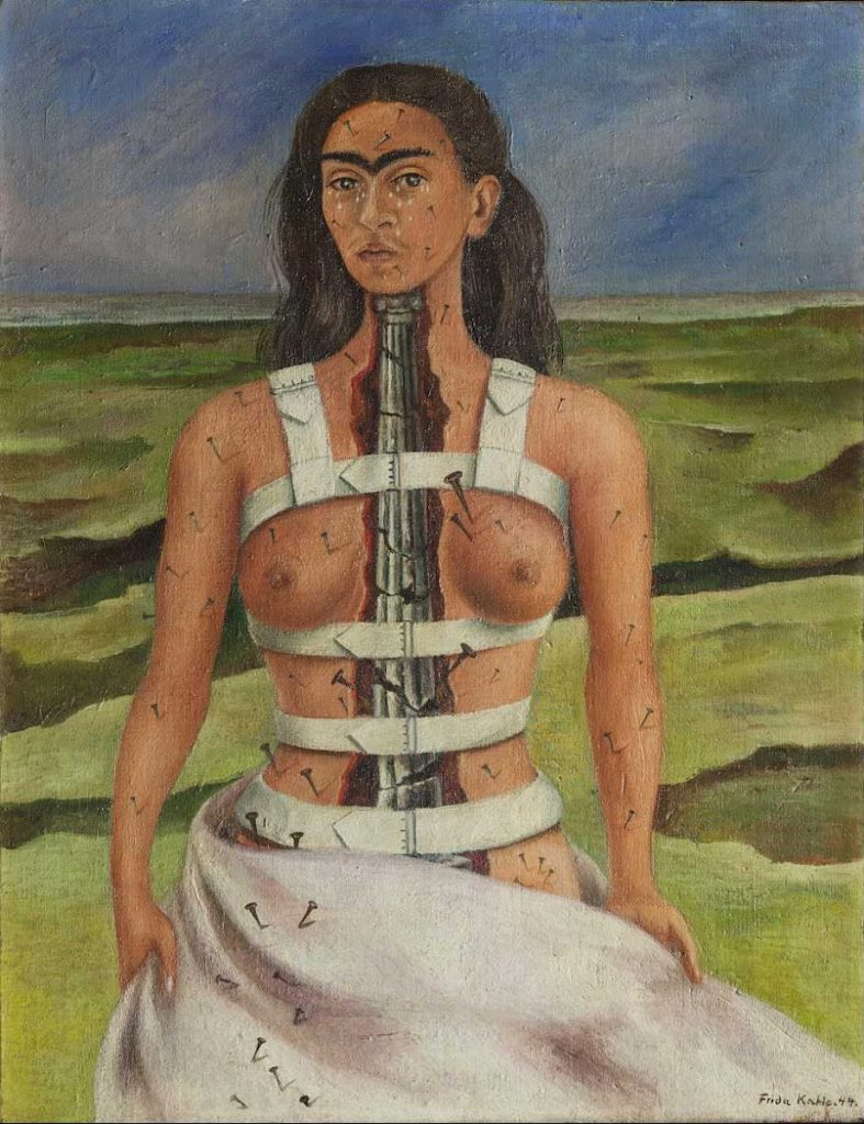 Frida Kahlo: the suffering behind her paintings; Frida Kahlo, The Broken Column, 1944