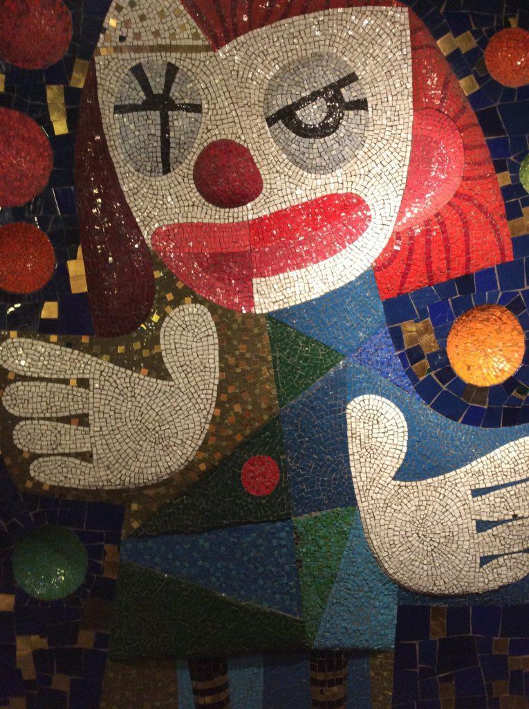 Jeanne Mount, Clown Mosaic,