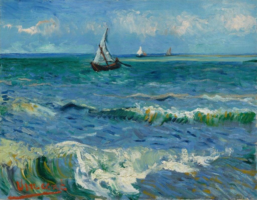 Vincent van Gogh, Seascape near Les Saintes Maries-de-la-mer,