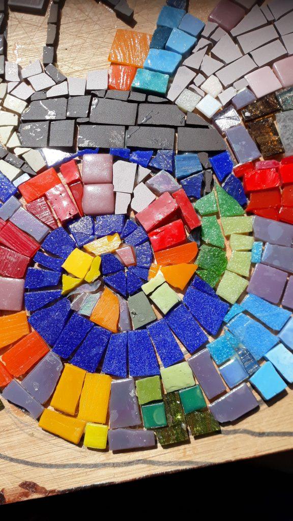 Alison Pierse, detail of a mosaic work in progress