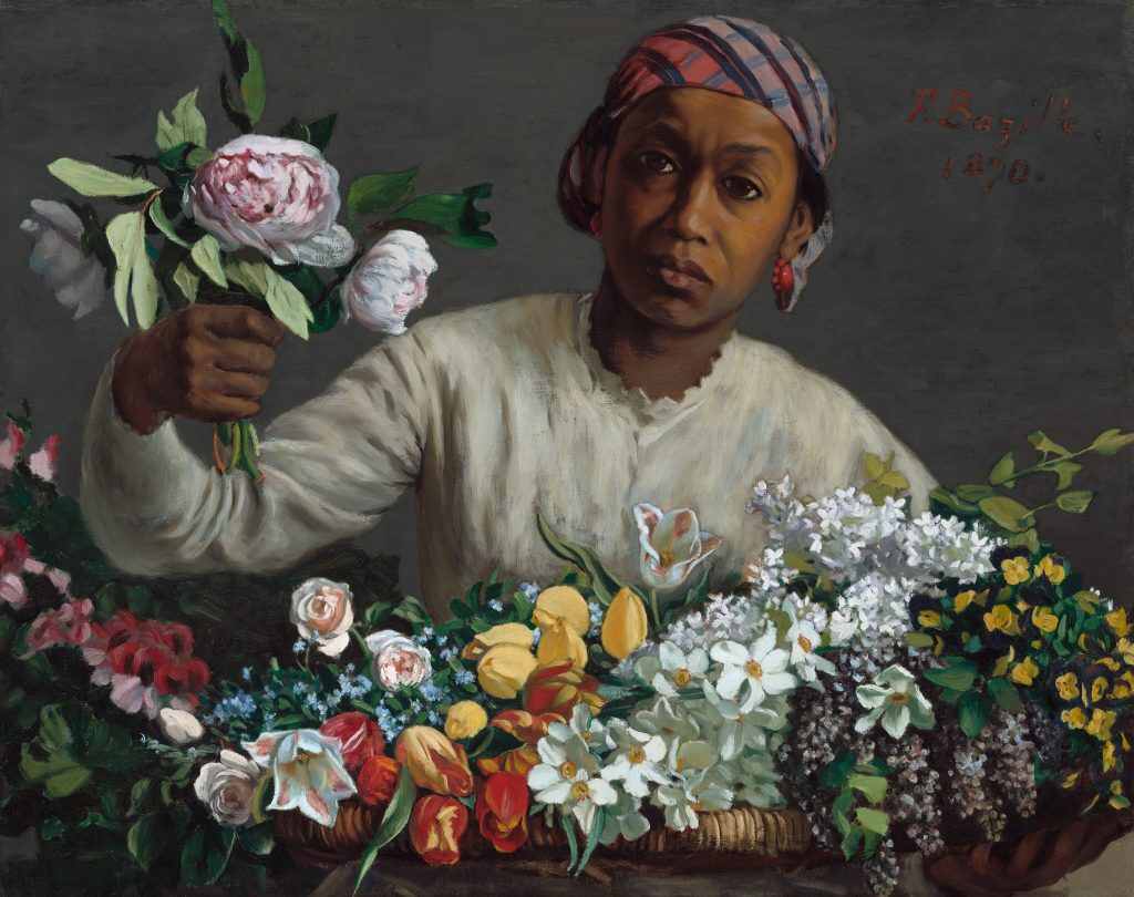 Frédéric Bazille's works, Frédéric Bazille, Young Woman with Peonies