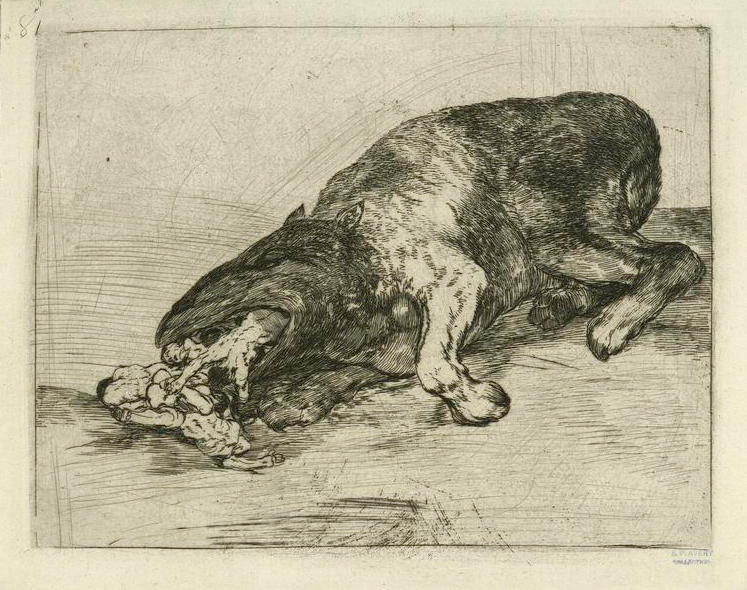 Francisco Goya, Proud Monsters!, plate 81 from The Disasters of War, 1810s, National Gallery of Art, Washington, DC, USA.