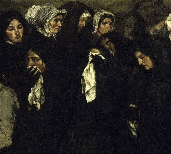 Gustave Courbet, A Burial at Ornans