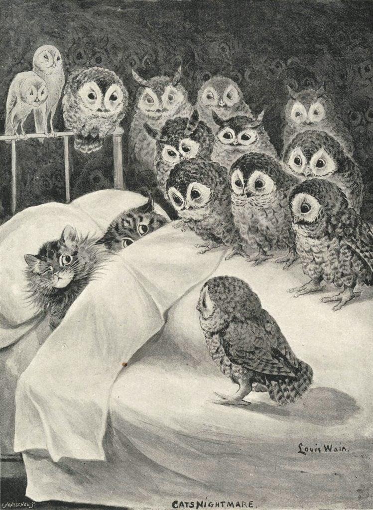 Louis Wain, Cat's Nightmare, c.1890,