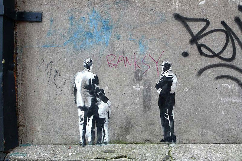Banksy city guide 2021: Banksy, Unknown Title, around 2010