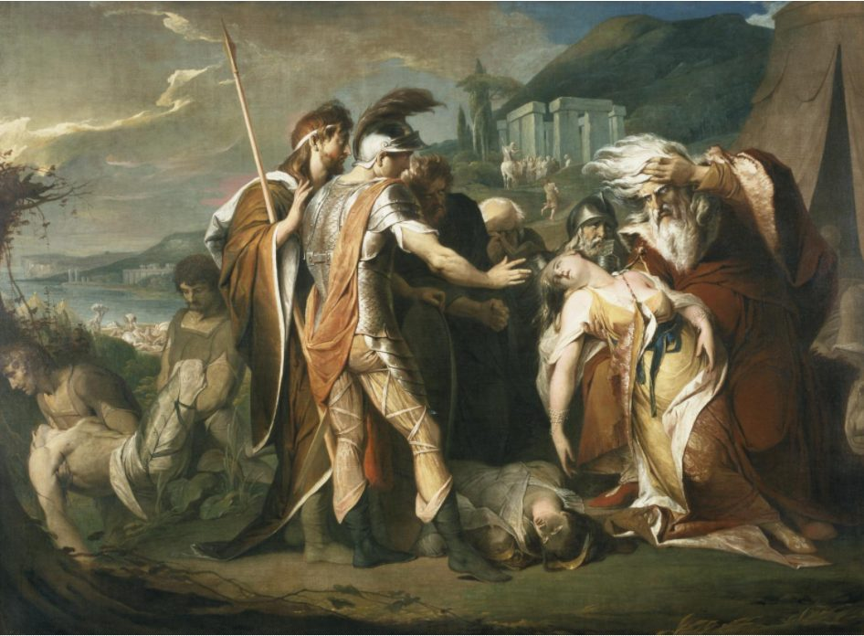 James Barry, King Lear Weeping over the Dead Body of Cordelia, 1786-88, Tate Collection, United Kingdom. tate.org.uk