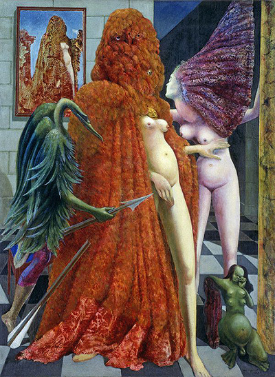 Max Ernst, Attirement (Robing) of the Bride, 1940, Paris France. Location: Peggy Guggenheim Collection, Venice, Italy. Source: Artnet.