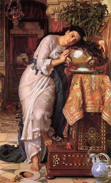 Pre-Raphaelites and Literature: William Holman Hunt, Isabella and the Pot of Basil, 1868, Laing Art Gallery, Newcastle Upon Tyne, U.K.