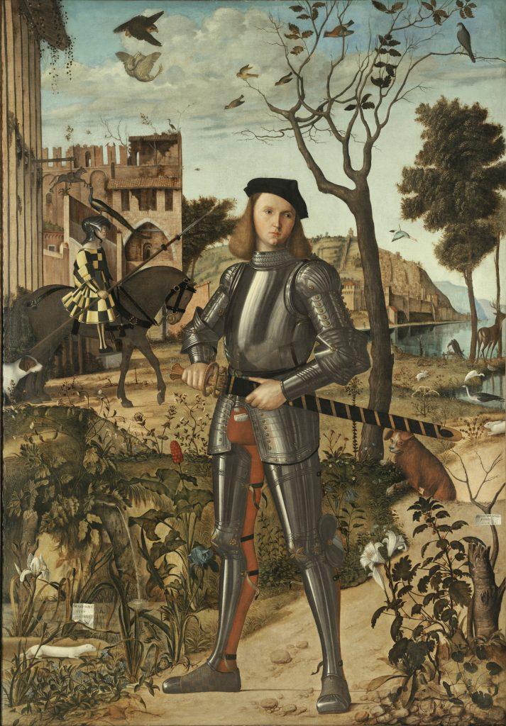 Vittore Carpaccio, Young Knight in a Landscape, ca. 1505, Museo Nacional Thyssen-Bornemisza