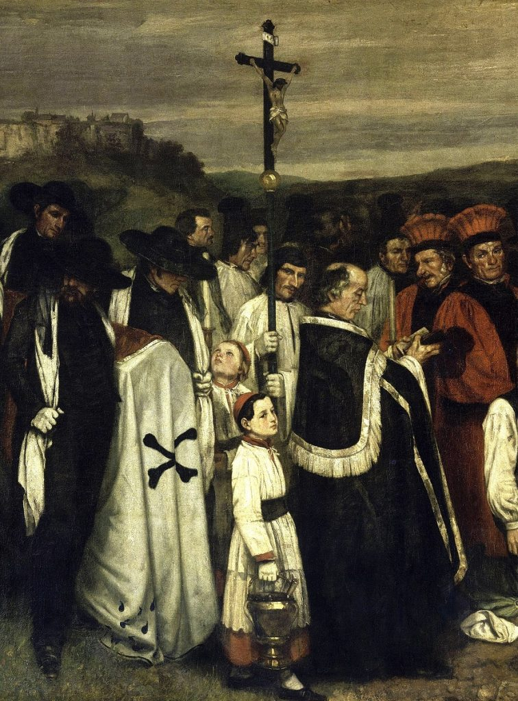 Gustave Courbet, A Burial at Ornans,