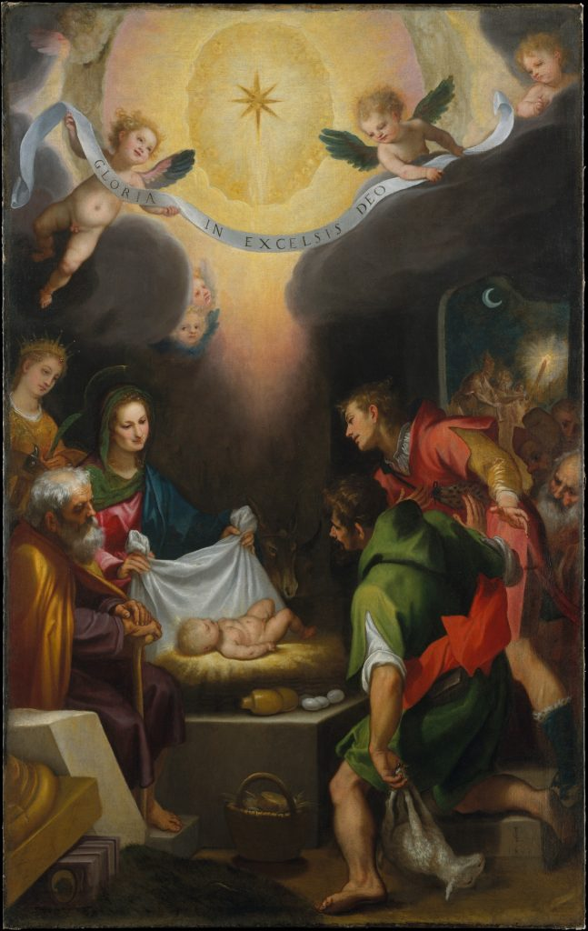 Galileo and the Moon in Art: Ludovico Cigoli, The Adoration of the Shepherds with Saint Catherine of Alexandria