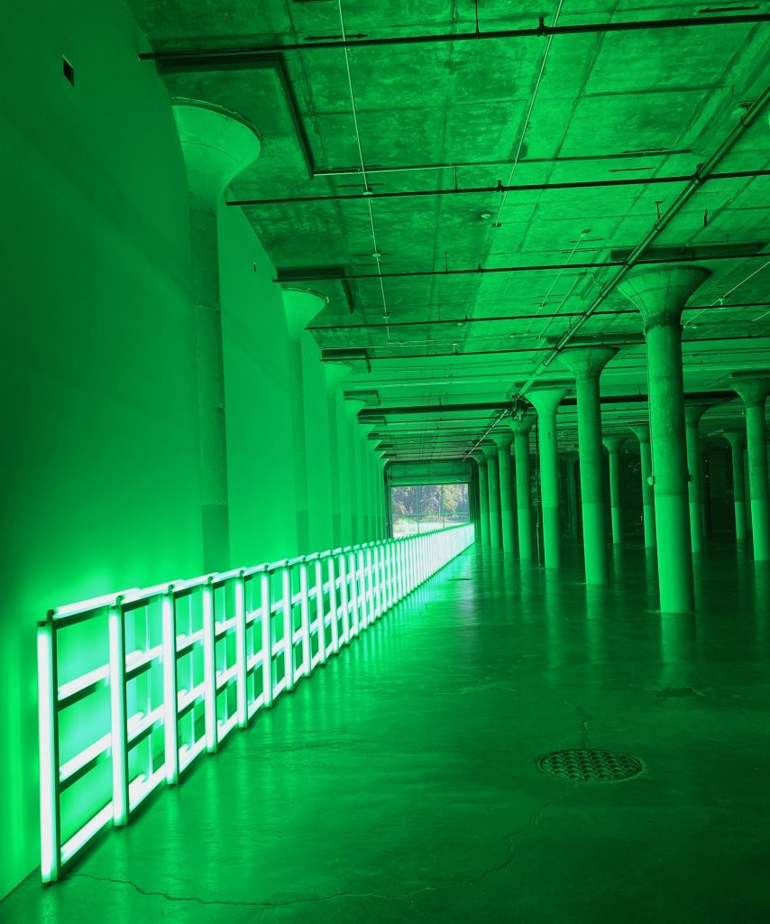Dan Flavin, untitled (to you, Heiner, with admiration and affection), 1973, Dia Beacon, New York, U.S.A.