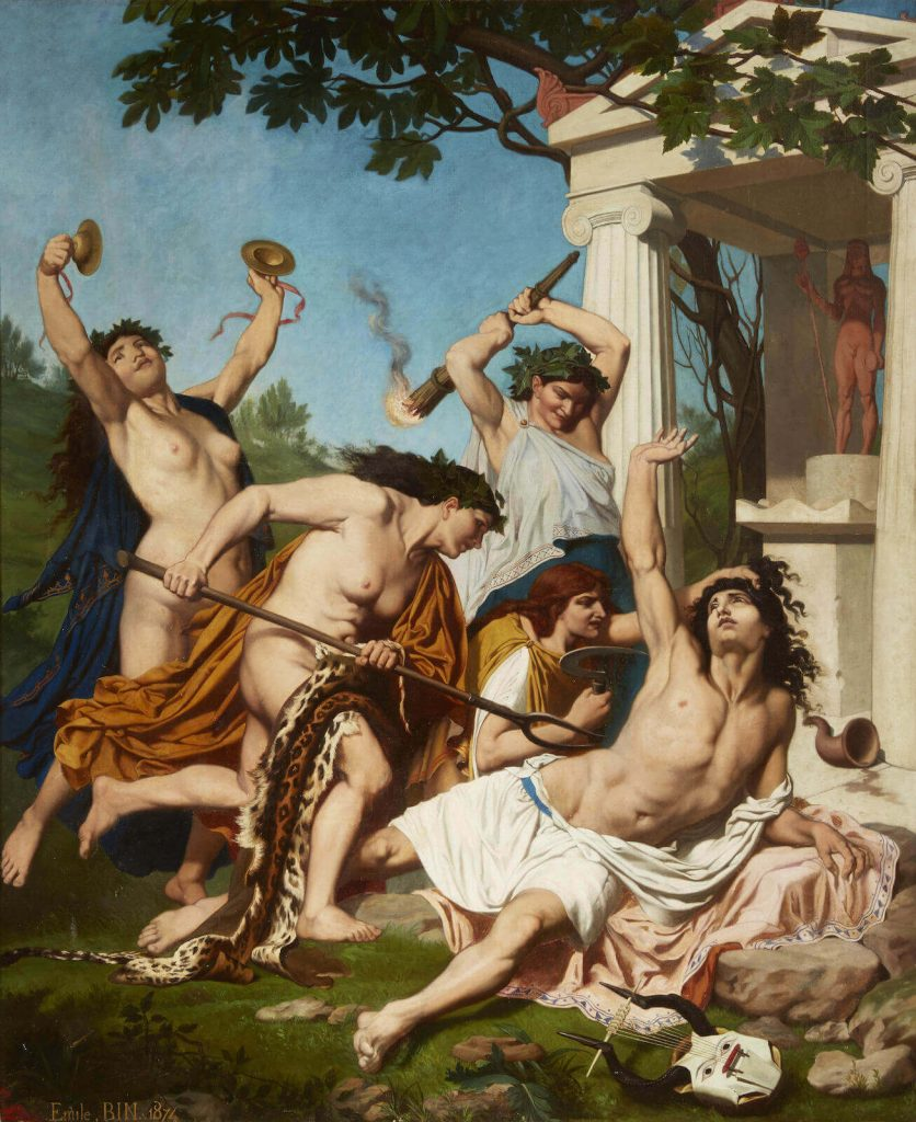 Dionysus Maenads: The Death of Orpheus by Émile Bin